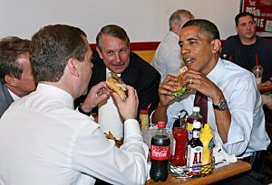 Obama  Cheeseburger Lunch