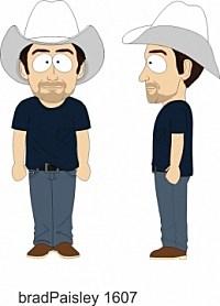 Brad Paisley Southpark Character