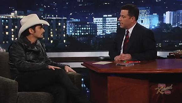 Brad Paisley and Jimmy Kimmel