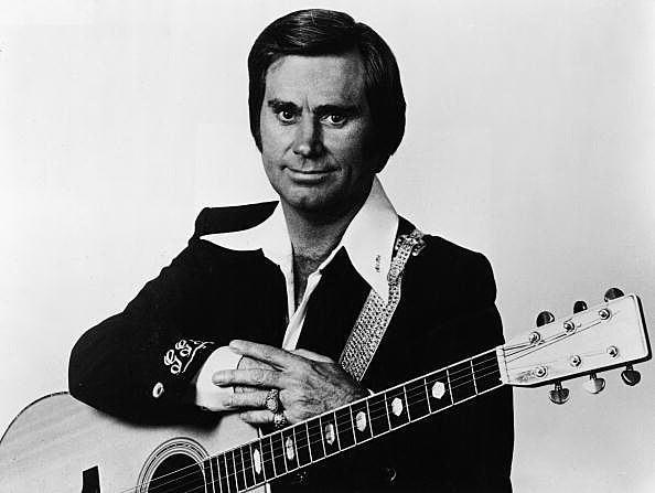 Portrait Of George Jones With Guitar