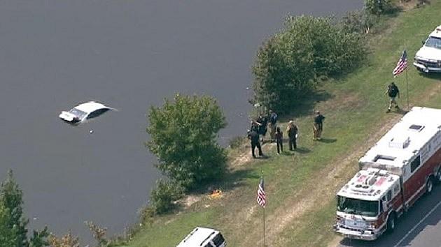 Car Crash Into a Lake