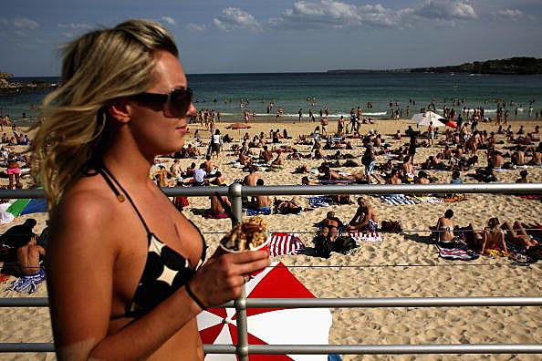 Hot girl on beach