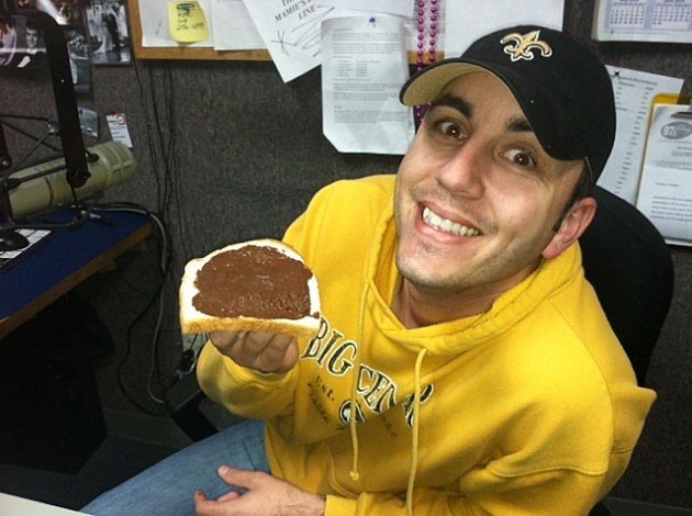 Jude Walker About to Eat Chocolate Bread
