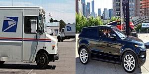 U.S Postal Truck and SUV