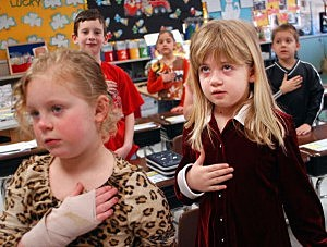 Students Pledge Allegiance To The Flag