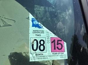 inspection sticker