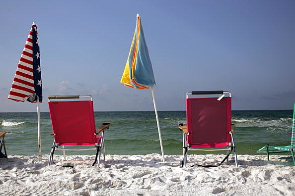 Holiday Sunbathers Wary After Florida Panhandle Shark Attacks
