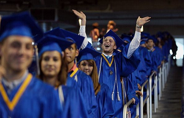 Joe Biden Delivers High School Commencement Address At Marlins Park