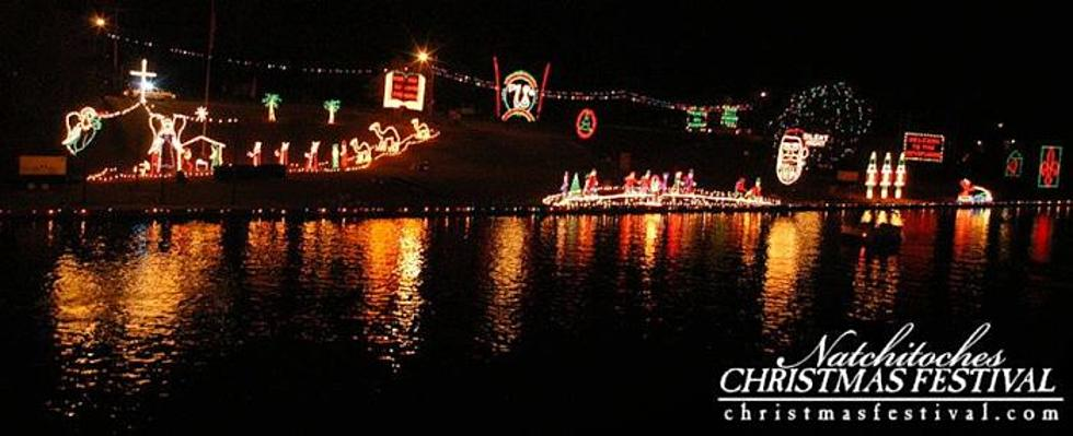 drone captures magical natchitoches christmas lights along cane river video - Natchitoches Christmas Festival