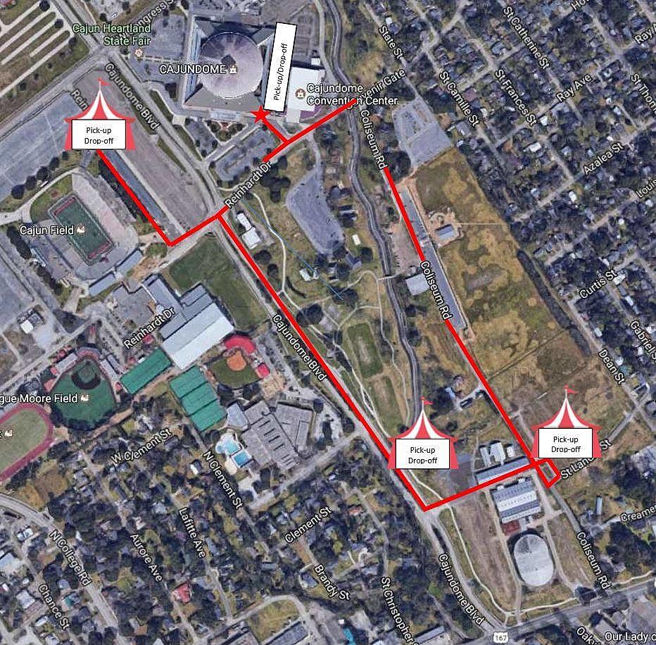 Cajundome Graduation Parking/ Facebook